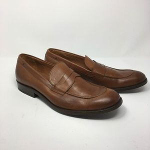 Frye Mens Penny Loafer Size 10.5 Brown Leather